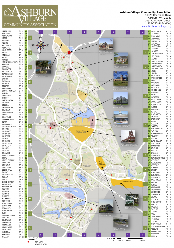Ashburn Village map